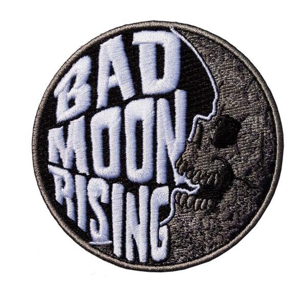 Kreeps Accessories - Bad Moon Rising Patch Iron On Skull Goth Horror